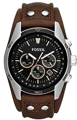 Fossil Men's 'Coachman' Quartz Stainless Steel and Leather Casual Watch