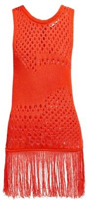 Altuzarra Carmela Crochet Cotton Blend Top - Womens - Orange