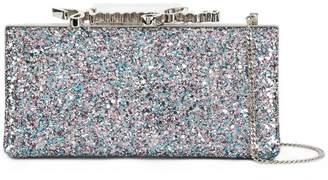 Jimmy Choo Metallic Celeste glitter clutch