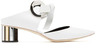 Proenza Schouler Front-tie block-heel leather mules