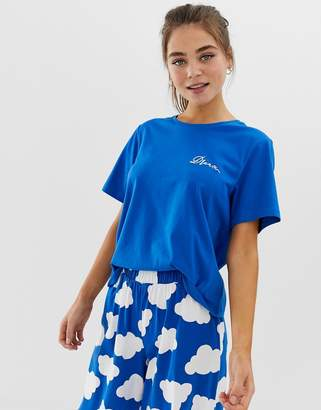 Asos DESIGN mix & match cloud pyjama dream jersey tshirt