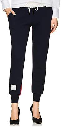 Thom Browne Women's Colorblocked Cashmere-Blend Jogger Pants