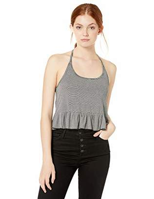 Volcom Junior's Women's Along The Way Cropped Halter Tank Cami Top,Extra Large