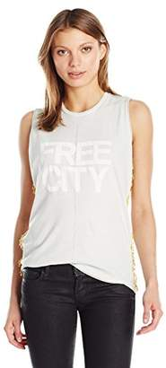 Freecity Women's Str8up Golden Pins Sleeveless T-Shirt