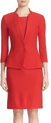 Women's St. John Collection Lattice Pique Knit Three Quarter Sleeve Jacket $1,495 thestylecure.com