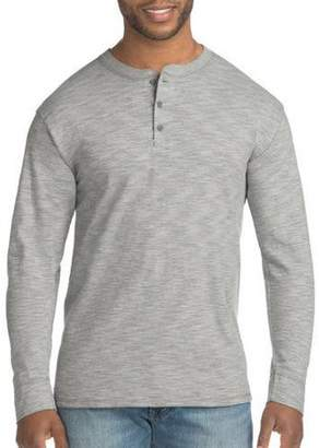 Hanes Big Men's FreshIQ X-Temp Long-Sleeve Henley Tee