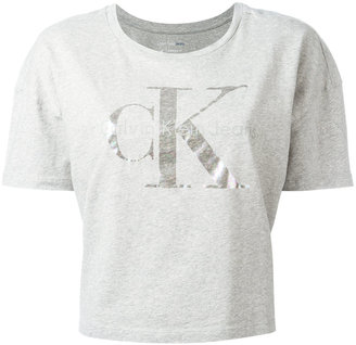 Calvin Klein Jeans cropped T-shirt with print $49.47 thestylecure.com