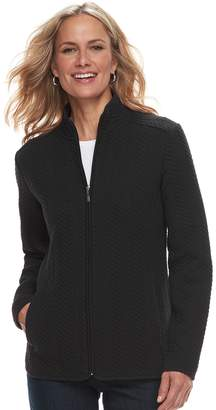 Croft & Barrow Women's Quilted Knit Jacket