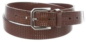 Brunello Cucinelli Perforated Leather Belts Brown Perforated Leather Belts