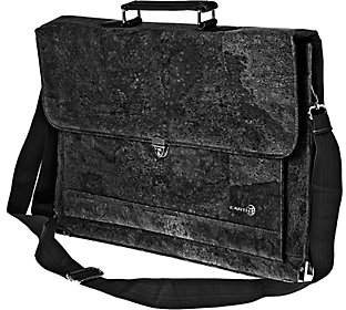 Earth Cork Faro Briefcase, Black