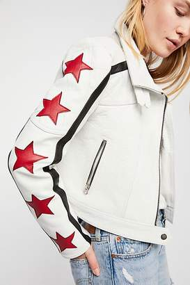 We The Free Star Power Leather Jacket