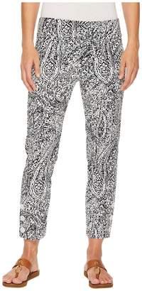 Elliott Lauren Elastic Waist Pull-On Crop Pants with Ankle Button Detail Women's Casual Pants