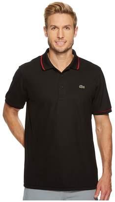 Lacoste Piped Technical Pique Tennis Polo Men's Short Sleeve Pullover