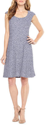 Ronni Nicole Sleeveless Pattern Fit & Flare Dress
