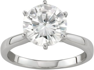 Charles & Colvard 14k White Gold 3 1/10 Carat T.W. Lab-Created Moissanite Solitaire Engagement Ring
