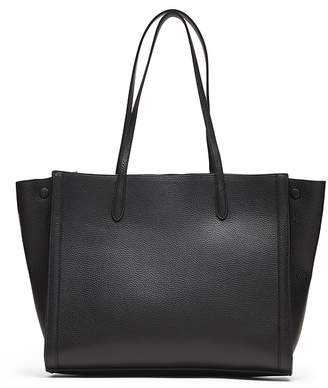 Banana Republic Italian Leather Large Tailored Tote Bag