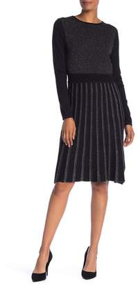 Spense Fit & Flare Stripe Sweater Dress