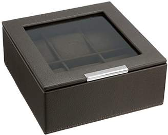 Wolf 309606 Stackable 6 Piece Watch Tray with Lid