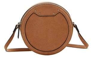 Violeta BY MANGO Round leather bag