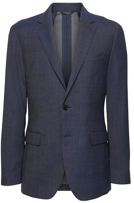 Banana Republic Slim Smart-Weight Performance Wool Blend Suit Jacket