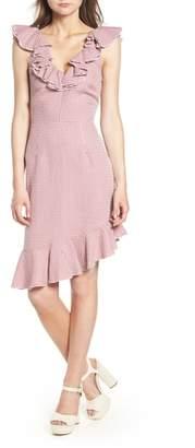 WAYF Asymmetrical Ruffle Dress