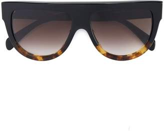 Celine tortoiseshell shadow sunglasses