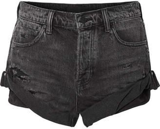 Alexander Wang Hike Denim Shorts - Dark gray