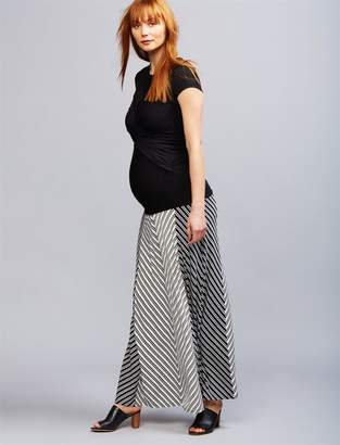 A Pea in the Pod Secret Fit Belly Striped Maternity Maxi Skirt