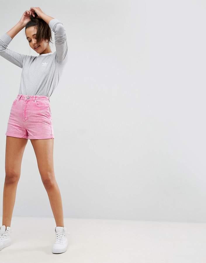 – Mom-Shorts aus Denim in Rosa