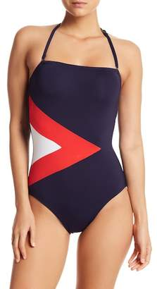 Nautica Bandeau One-Piece Swimsuit