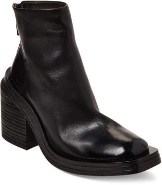Marsèll Black Scatolo Chunky Leather Ankle Boots