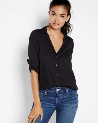 Express Slim Fit Notched Lapel Shirt