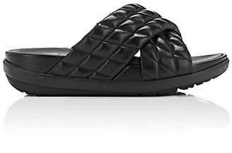 FitFlop LIMITED EDITION Women's Loosh Luxe Quilted Leather Slide Sandals - Black