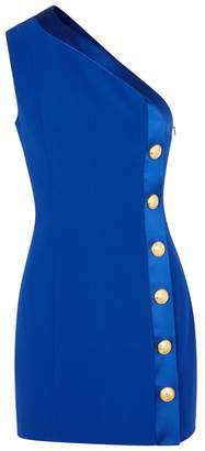 Balmain Cobalt One-shoulder Mini Dress