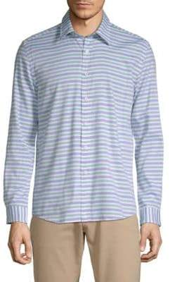 Hyden Yoo Striped Cotton Button-Down Shirt
