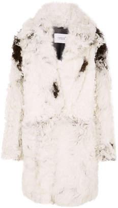Common Leisure - Dream Oversized Shearling Coat - White