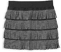 Mia Girl's Studded Fringe Skirt