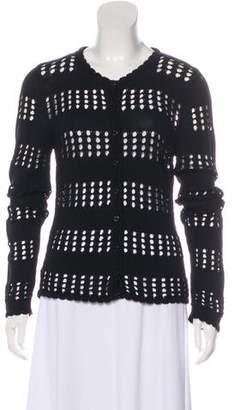 Dolce & Gabbana Open-Knit Scoop Neck Cardigan