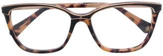 Balmain rectangle frame tortoiseshell glasses
