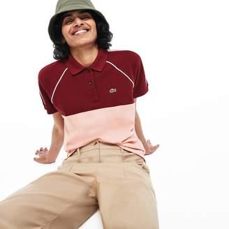 Lacoste Women's Slim Fit Colorblock Cotton Petit Pique Polo Shirt