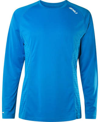 2XU X-VENT Mesh-Panelled Jersey T-Shirt - Men - Blue