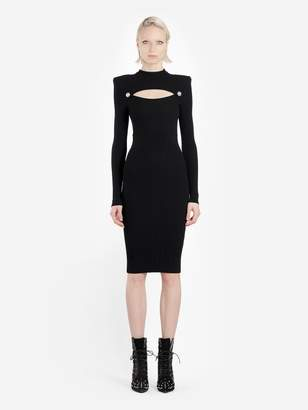 5273769a Balmain BLACK LONGS SLEEVES CUTOUT DRESS