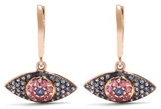 Ileana Makri Sapphire, Rodolites & Pink Gold Earrings - Womens - Rose Gold