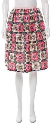 Manoush Sequin Embellished Knee-Length Skirt