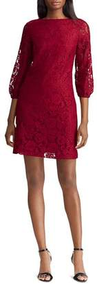 Ralph Lauren Lace Peasant-Sleeve Dress