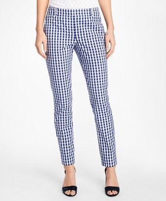 Brooks Brothers Gingham Stretch-Cotton Pants