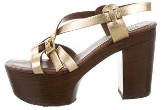 MICHAEL Michael KorsMichael Kors Leather Platform Sandals