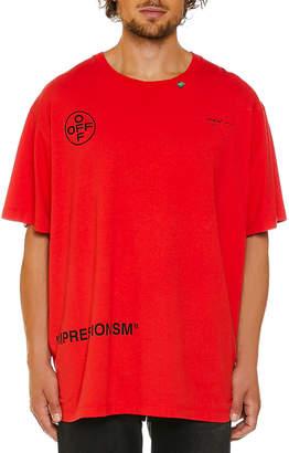 Off-White Off White Men's Stencil Jersey T-Shirt