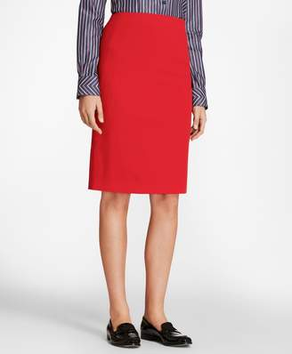 Brooks Brothers Stretch-Wool Twill Pencil Skirt