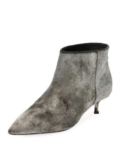 Valentino Garavani Twist Heel Low Ankle Boot, Silver